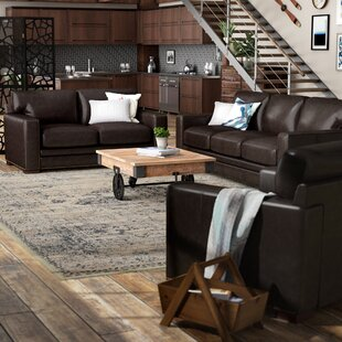 Neil Leather 2 Piece Living Room Set by Trent Austin Design