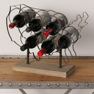 Kate and Laurel America 6 Bottle Tabletop Wine Bottle Rack