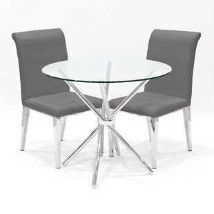 Quinley Dining Set With 2 Chairs By Metro Lane