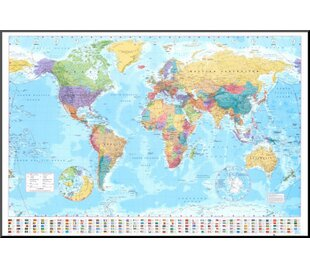 World map push pin wayfair world map graphic art print on wood gumiabroncs Images
