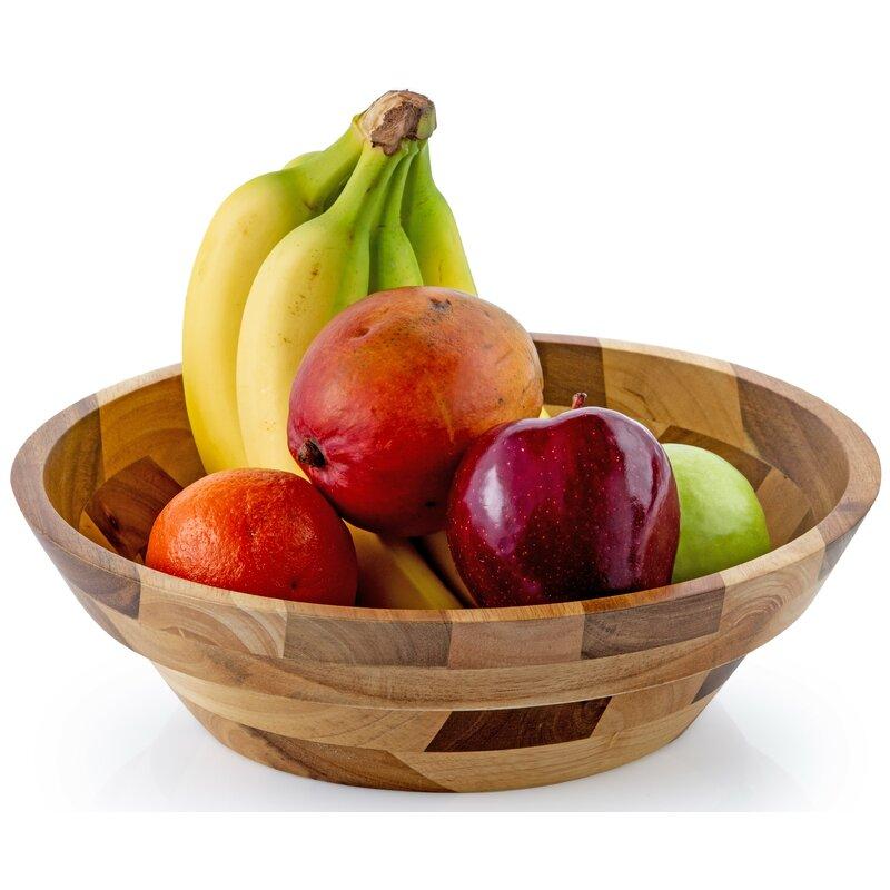 August Grove Clavene Rubberwood 145 Fl Oz Fruit Bowl Reviews Wayfair Ca