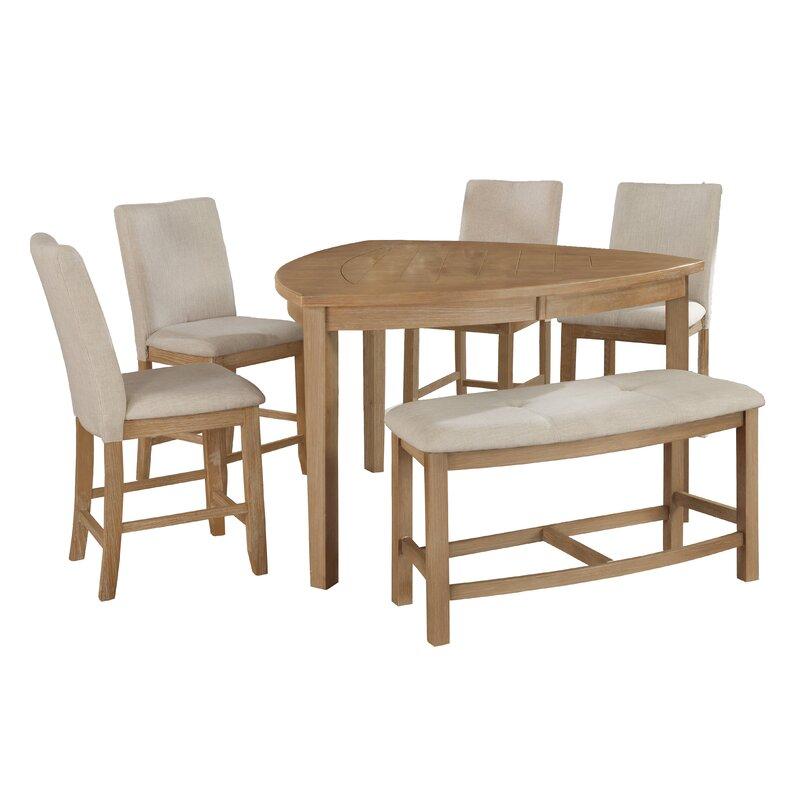 White Cane Outdoor Furniture, Gracie Oaks Safaa 6 Piece Counter Height Dining Set Reviews Wayfair