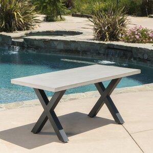 Bodil Concrete Rectangular Dining Table b..