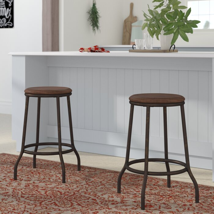 Awesome Maddux Backless Metal 24 Bar Stool Unemploymentrelief Wooden Chair Designs For Living Room Unemploymentrelieforg
