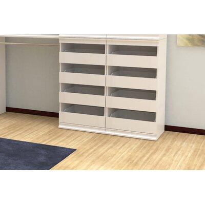 "ClosetMaid Modular Storage 21.38"" W Stackable 4-Drawer Unit"