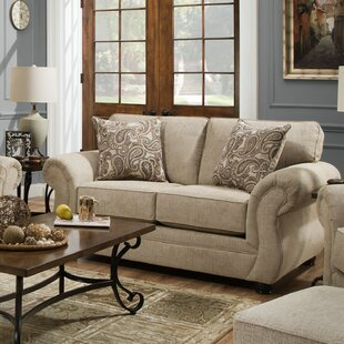 Vicki Parchment Loveseat by Da..