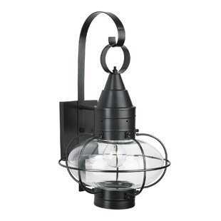 Big Save Withyditch 1-Light Glass Shade Outdoor Wall Lantern By Breakwater Bay