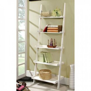 Pabst Stylized Contemporary 5-Tier Ladder Bookcase by Winston Porter