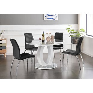 Sennur Dining Set With 4 Chairs By Ebern Designs