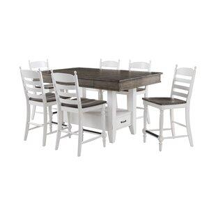 Belgium 7 Piece Pub Table Set