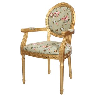Marvelous Louis Floral Upholstered Dining Chair