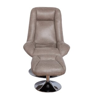 Ebern Designs Haverty Swivel Lounge Chair and Ottoma