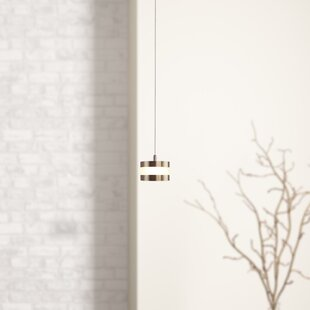 Orren Ellis Karter 1-Light LED Drum Pendant