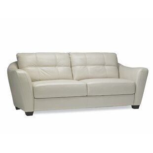 Swink Leather Sofa by Ebern Designs