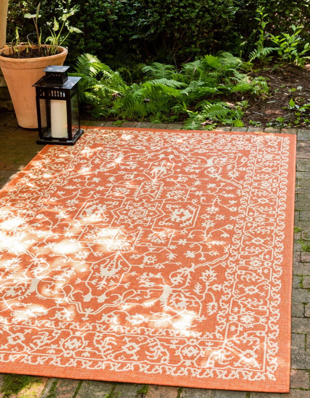 Terracotta Indoor Outdoor Area Rug