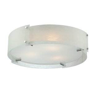 Wade Logan Shawmut 3-Light Flush Mount