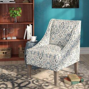Geometric Hardwood Frame Slipper Chair by Andover Mills