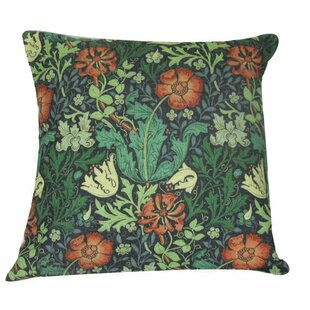 William Morris Flower Throw Pillow Cover