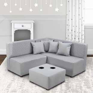 Bacote 415 Symmetrical Corner Sectional with Ottoman by Isabelle amp Max