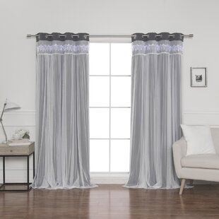 Loar Solid Blackout Thermal Grommet Curtain Panels (Set of 2) by August Grove