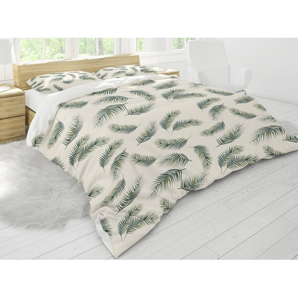 Bayou Breeze Destiney Leaves Seamless Comforter Set Wayfair
