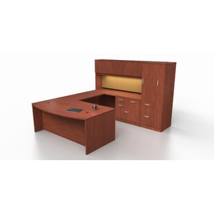 Trendway Intrinsic 4 Piece U-Shape Desk Office Suite with Tower Suite