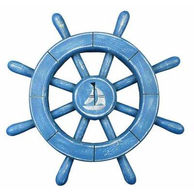 Handcrafted Nautical Decor Ship Wheel Wall Décor