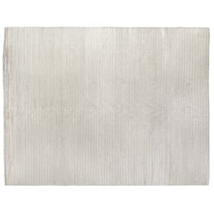 Inexpensive Wave Hand-Woven Silk White Area Rug ByExquisite Rugs