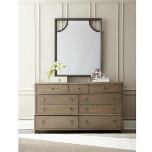Stanley Furniture Virage 9 Drawer Dresser with Mirror