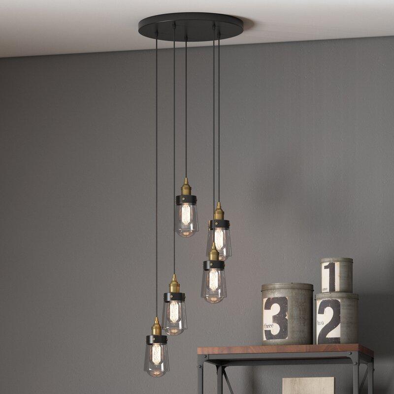 trent austin design poplar 5 light cascade pendant reviews wayfair