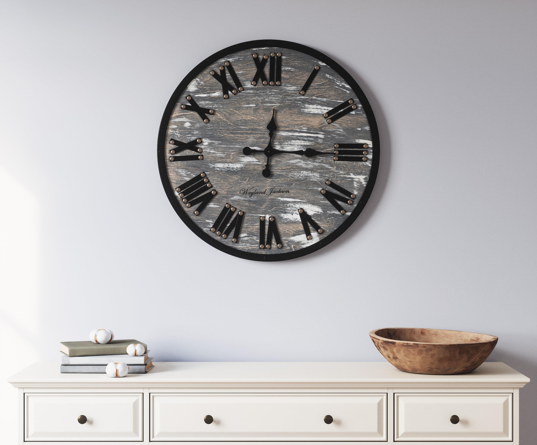 17 Stories Oversized Driffield Wall Clock Reviews Wayfair