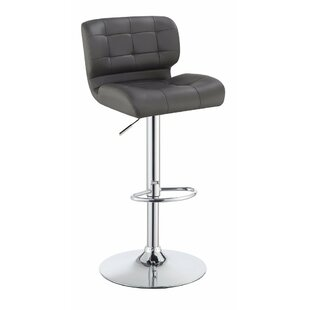 Worton Adjustable Height Swivel Bar Stool (Set of 2)