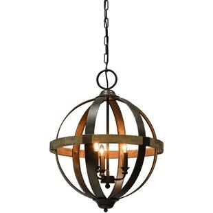 Charlton Home Kyler 3-Light Globe Chandelier