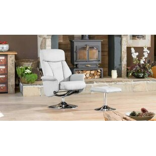 Higgins Manual Swivel Recliner With Footstool By George Oliver