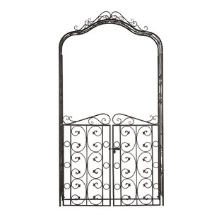 Cole & Grey Traditional Iron Scrollwork Garden Trellis