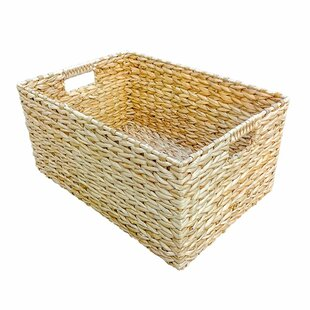 Rectangular Water Hyacinth Storage Wicker Basket