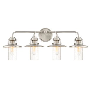 Reviews Quinault 4-Light Vanity Light By Breakwater Bay