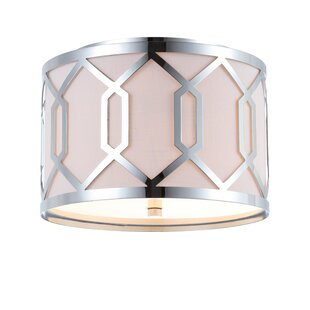 Mercer41 Herring Metal 2-Light Flush Mount