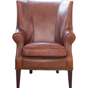 brayden leather wingback chair brayden leather wingback chair by elements fine home furnishings