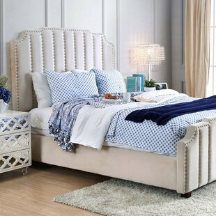 Linton Padded Lannelette Fabric Upholstered Panel Bed by House of Hampton