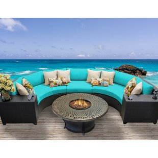 Medley 6 Piece Sectional Seating Group with Cushions