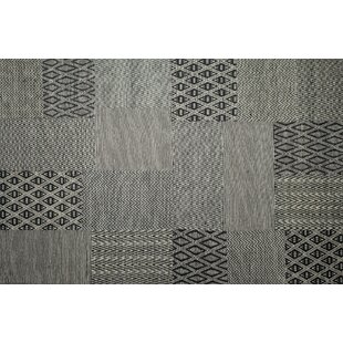 Inexpensive Textara Hand Woven Black/White Area Rug By Ren-Wil