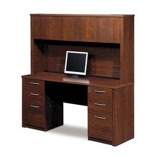 Karyn Executive Desk With Hutch by Latitude Run Herry Up