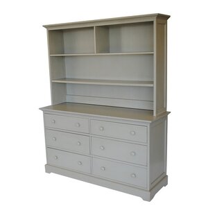 Chesapeake 6 Drawer Double Dresser with Hutch