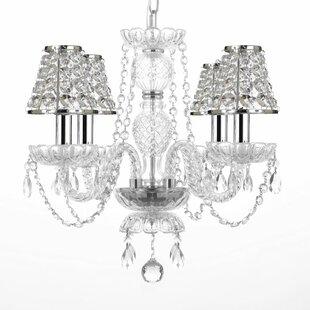 Kian 4-Light Shaded Chandelier by House of Hampton