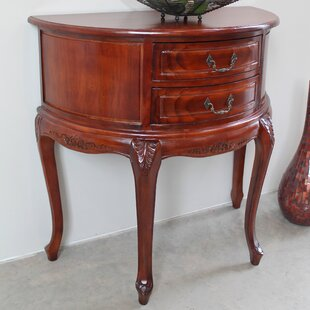 Windsor Half-Moon Hand Carved Console Table by International Caravan