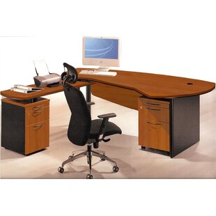 Executive Management Office 3 Piece L-Shaped Desk and Filing Set