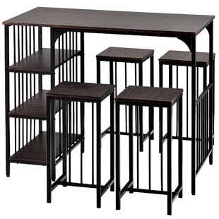 Brondesbury 5  Piece Counter Height Dining Set Set of 5