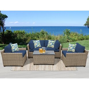Monterey 5 Piece Sofa Seating Group with Cushions by TK Classics