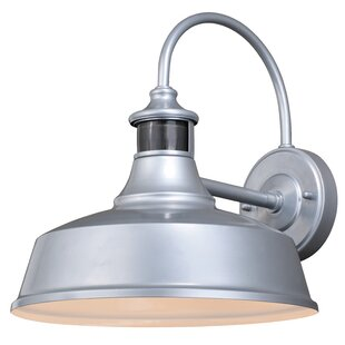Andover Mills Clio Outdoor Barn Light with Motion Sensor